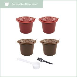 Capsules réutilisables Nespresso en plastique