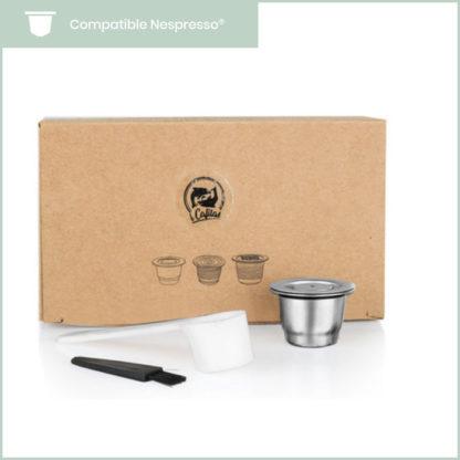 coffret premium de capsules compatibles nespresso réutilisables